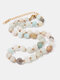 Ethnic Semi-precious Stone Beaded Adjustable Thick Round Bead Necklace - #04