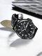 Alloy Steel Band Luminous Business Waterproof Quartz Watch Mens Watch - Black+Black(PU)