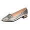 Women Daily Office Comfy Solid Color Slip On Flats