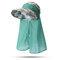 Gorra ajustable para mujer Visera con sombrero a prueba de viento Gorro anti-UV Playa Sun Sombrero