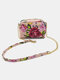 Natural Multicolor Flower 6.5 Inch Phone Bag All-over Chain Decor Waterproof  Wearable Crossbody Bag - Pink