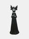 1 PC Resin Nightmare Witch Figurine Statue Dark Bizarre Art Creepy Halloween Sculpture Decorating Bedroom Living Room Garden Patio Yard Lawn Ornament - #04