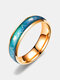 Simple Titanium Steel Color Changing Couple Ring Emotional Feeling Warm Electrocardiogram Ring Valentine's Day Gift - Rose Gold