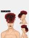5 цветов Африка Маленькие вьющиеся короткие Парик Пушистая челка с взрывной головкой Волосы Сумка - #03