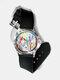 Casual Ultra Light Printed Women Watch Watercolor Ink Painting Flower Bird Pattern Quartz Watch - #08