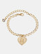 Luxury 26 English Letters Women Anklet Wild Heart Pendant Anklet Jewelry Gift - N