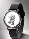 Animal Printed Men Business Watch Black-White Dogs Cats Pattern Women Quartz Watch - #05