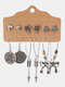 6 Pairs Vintage Trendy Multiple Types Of Shapes Alloy Earrings Set - #10