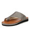 Large Size Women Casual Breathable Hollow Flat Thumbs Sandals - Gold