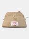 Men & Damen Cute Piggy Katze Ohren Plain Color Warm halten Winddicht gestrickt Hut - Beige