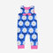 Baby Floral Print Sleeveless Casual Blue Rompers For 6-24M - Blue