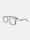 Unisex Large Full Frame Double Bridge Anti-blue Light Anti-UV Vintage Glasses - #01