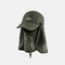 Sun Protection Foldable Cover Face Visor Outdoor Fishing Hat Summer Quick-drying Cap Breathable Hat Baseball Cap - Army Green