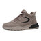 Men Sport High Top Protect Ankles Comfy Wearable Casual Sneakers - Khaki