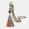 Vintage Buddha Wood Beads Long Necklace Ethnic Geometric Tassel Pendant Sweater Chain - 12