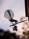 23-Types Metal Garden Tree Insert Decor Hummingbird Owl Simulation Animal Art Ornament - #20