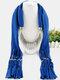 20 Colors Bohemian Women Scarf Necklace Shawl Autumn Winter Tassel Pendant Necklace - #19