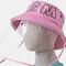 Detachable Face Screen Children's Sun Hat Windshield Fisherman Hat - Pink