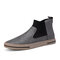 Men Elastic Slip On High Top Trainers Soft Waterproof Ankle Boots - Gray
