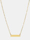 Luxury Stainless Steel Paperclip Chain Women Necklace Heart Pendant Necklace Sweater Chain - #07