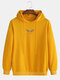 Mens Cool Wings Graphic Back Print Drawstring Pullover Hoodie - Yellow