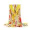 Mujer Estampado de flores Bohemia Travel Playa Protector solar vendimia Vogue Algodón Soft Chal de bufanda de seda