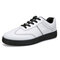 Men Brief Stitching PU Leather Sport Stylish Casual Shoes - Black