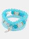 Vintage Multicolor Beautiful Opal Bracelet Temperament Multi-layer Tassel Bracelet - #15