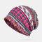 Women Printing Ethnic Beanie Vintage Hat Good Elastic Breathable Turban Caps - Rose