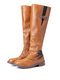 Plus Size Women Metal Buckle Decor Slip On Mid Calf Riding Boots - Brown