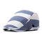 Chapeau de béret de coton rayé hommes femmes chapeau chapeau de canard parasol occasionnel