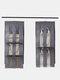 1Pc 5 Pocket Hanging Handbag Organizer für Kleiderschrank Transparente Aufbewahrungstasche Türwand Klar Diverse Schuhtasche Mit Kleiderbügel-Tasche - Grau