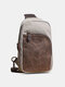 Vintage Multi-functional Large Capacity Color matching Crossbody Bag For Men - Gray