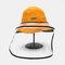 Chapeau de pêcheur anti-éclaboussures Lunettes de protection réversibles Visière pare-soleil amovible - Jaune