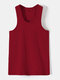 Men Sproty Casual Comfortable Soft Bottoming Vest - Wine Red