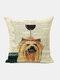 Animal Head Wine Glass Pattern Linen Cushion Cover Home Sofa Art Decor Throw Pillowcase - #22