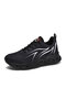 Couple Style Flame Pattern Mesh Fabric Sneakers Blade Shape Sole Running Shoes For Women - Black White