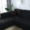 Premium Quality Stretchable Elastic Sofa Covers Premium All-Season Sofa Slip Covers Pet-Friendly and Stain-Resistant - Black