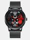 3D Hollow Wheel Hub Design Waterproof Fashion Full Steel Men Watch Quartz Watch - #04