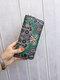 Women Ethnic Print 6.5 Inch Phone Bag Money Clip Wallet Purse - #06