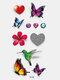 40 piezas 3D estéreo Impermeable tatuajes pegatinas escorpión flor transferencia de agua tatuaje pegatinas - 39