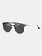 Unisex Wide Metal Frame Outdoor Fashion Driving UV Protection Polarized Sunglasses - #02