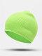 ユニセックスポリエステルコットンニットソリッドレタークロスラベルオールマッチ暖かさビーニーハット - 緑