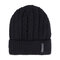 Men Winter Wool Knit Cap Warm Ear Thick Vogue Vintage Outdoor Casual Snow Ski Cycling Beanie - Black