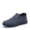 Men Cloth Breathable Ankle Shoes Non Slip Casual Slip On Shoes - Gray