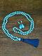 2 Pcs Bohemian Turquoise Women Jewelry Set Tassel Beaded Necklace Sweater Chain Pendant Earrings - #04