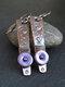 Vintage Drop Shape Women Earrings Colored Enamel Epoxy Pendant Earrings - Purple