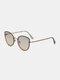 Unisex Metal Full Frame Tinted Lens UV Protection Fashion Sunglasses - Colorful