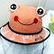 Children's Dust Cap Detachable Face Screen Windproof Transparent Fisherman Hat  - Orange