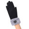 Gants hiver en daim chaud pour femmes Gants à doigts complets pour écran tactile solide et coupe-vent